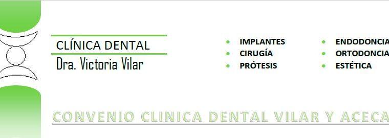Convenio Clínica Dental Vilar y Aceca